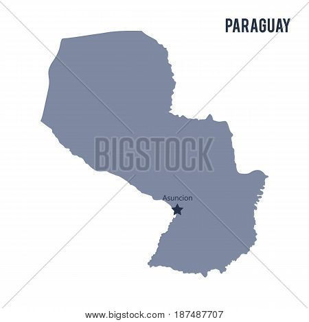 Vector Map Of Paraguay Isolated On White Background.