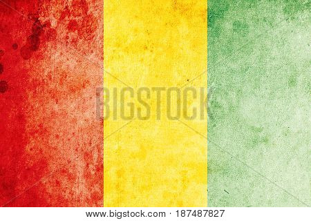 Guinea flag grunge background. Background for design in country flag
