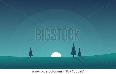 Collection stock hill landscape background vector art