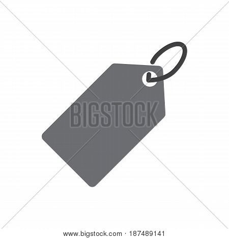 Price tag - vector icon in black on a white background.