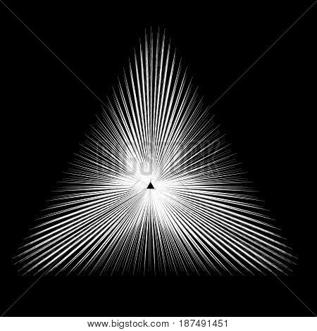 Abstract triangle banner. Black and white. Vector illustration