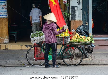Street Vendor In Hai Phong, Vietnam