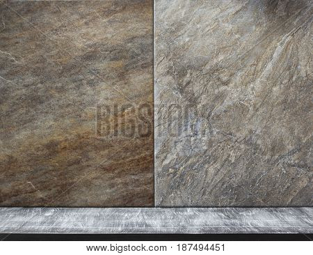 signboard and stone background texture