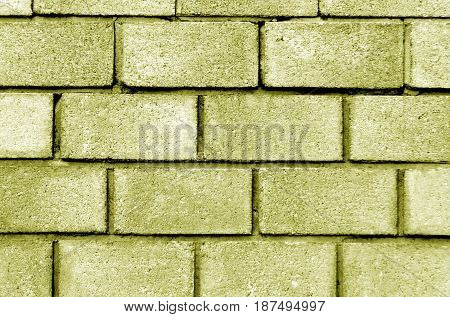 Yellow Color Brick Wall Pattern.