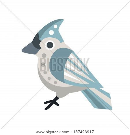 Waxwing bird colorful cartoon character vector Illustration isolated on a white background