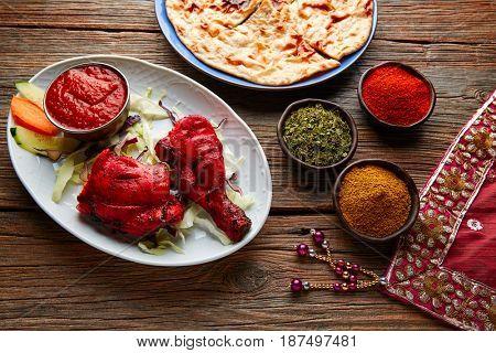 Indian Tandoori chicken recipe with spices