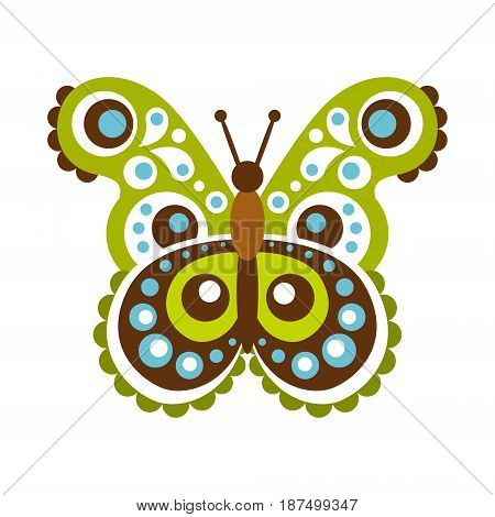 Colorful beautiful butterfly vector Illustration isolated on a white background