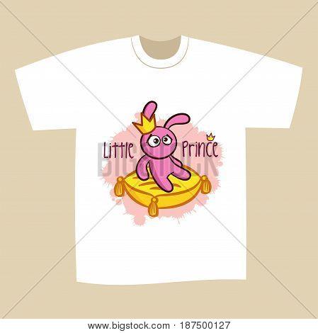 T-shirt Print Design Little Prince Vector Illustration