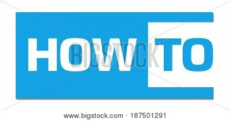 How to text written over blue background.