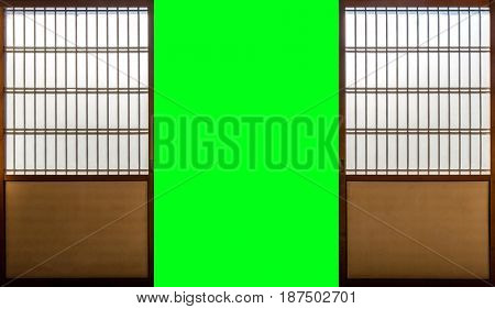 Japanese room, Sliding paper door