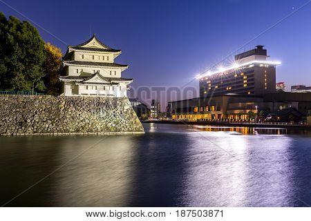 Nagoya Castle, Japan at night