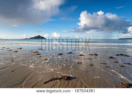 Marazion Beach In Cornwall