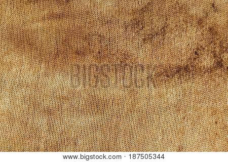 Dirty Orange Textile Rag Texture.