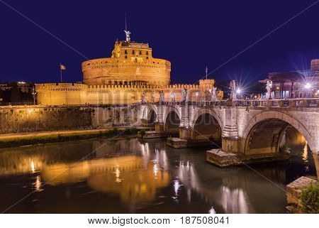 Castle de Sant Angelo in Rome Italy - architecture background