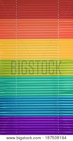 Colorful jalousie as background
