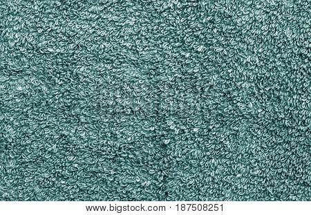 Cyan Color Towel Pattern Close-up.