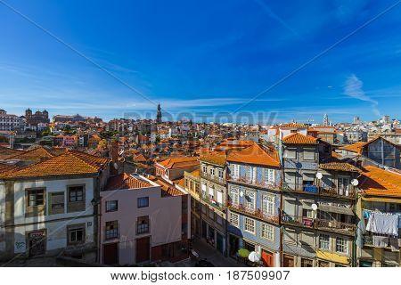 Porto old town in Portugal - architecture background