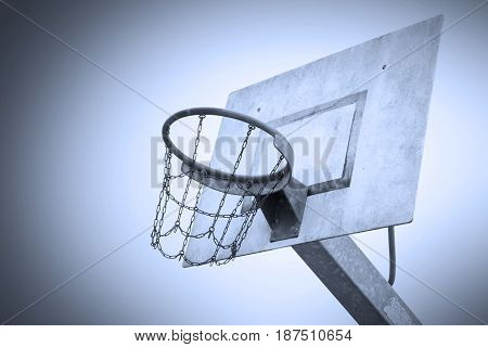Basketball Court In An Old Jail, Blue