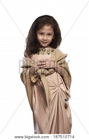 Portrait Of Asian Muslim Girl With Traditional Dress