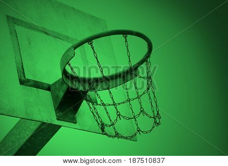 Basketball Court In An Old Jail, Green