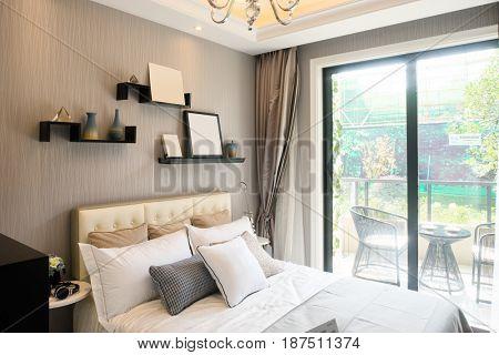 interior of modern bedroom