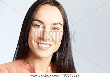 Portrait Of Woman With Perfect Teeth And Beautiful Smile