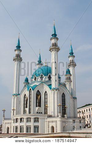Kul Sharif mosque in the Kazan Kremlin. Tatarstan, Russia
