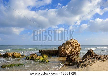 Mediterranean coast in southern Israel near Ashkelon