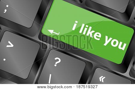 Button Keypad Keyboard Key With I Like You Words