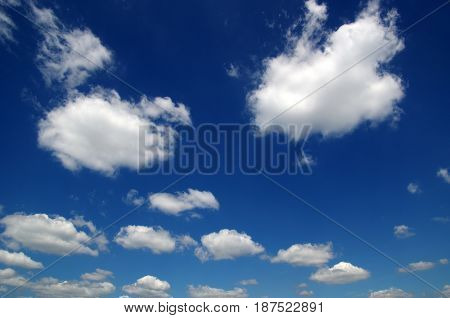 sky background and white clouds