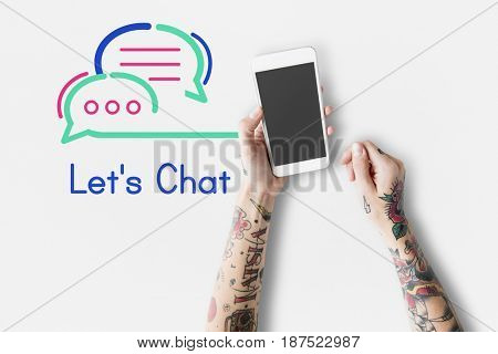 Let chat message communication technology