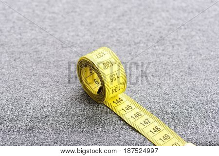 Roll Of Yellow Measuring Tape
