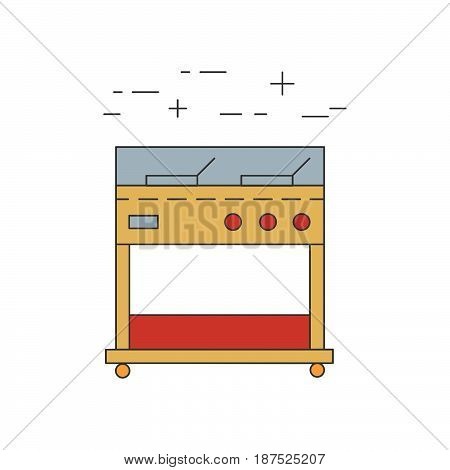 Fryer outline vector icon. Restaurant line equipment.