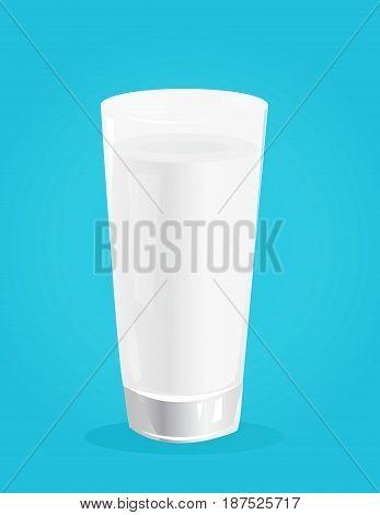 Milk vector illustration on blue background art