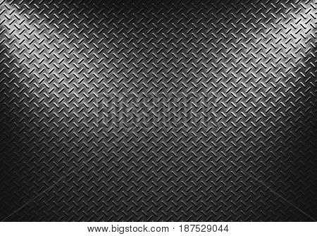 Abstract modern grey metal sheet texture with two directional spotlight material design for background graphic design