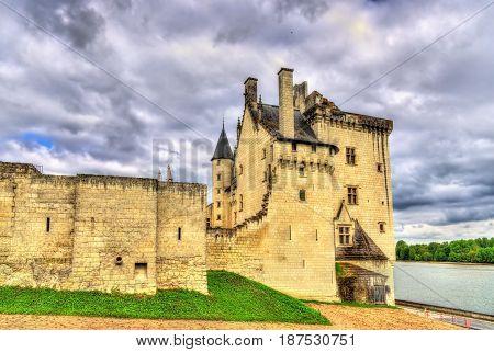 Chateau de Montsoreau, a castle on the bank of the Loire in France, Maine-et-Loire