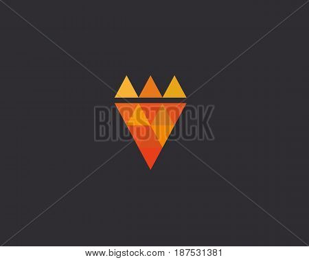 Pizza king logotype. Pizzeria fast food vector logo