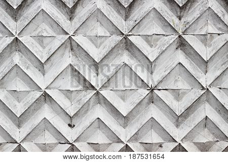 Concrete Wall With Rhomb