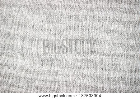 Grey textured abstract linen background. Copy space