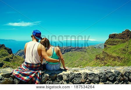 Romantic Scene Of Happy Young Stylish Beautiful Couple In Hipster Clothes