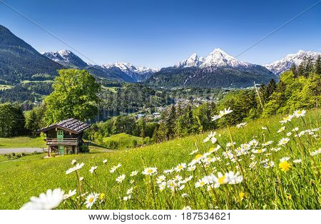 Mountain Landscape In The Bavarian Alps, Berchtesgadener Land, Germany