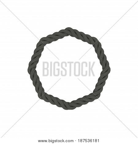 Braided frame in form of octahon. Isolated on white background.3D rendering illustration.