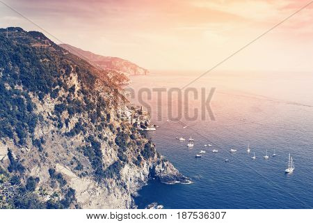 Many Yachts Sailing In The Sea