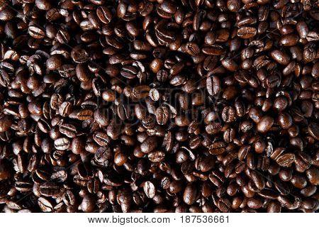 Roasted coffee beans, full frame