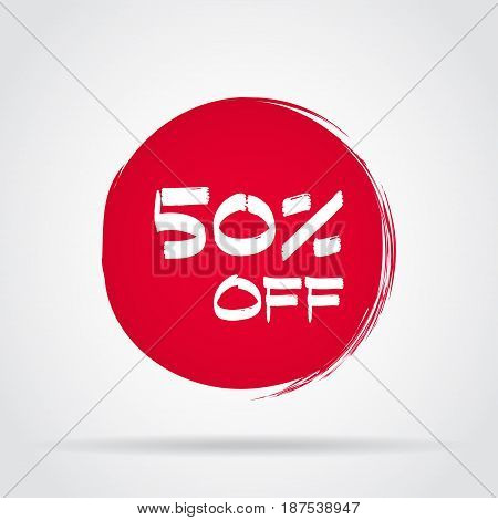 Discount offer price label symbol for advertising campaign in retail sale promo marketing
