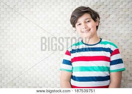 Boy with beautiful background