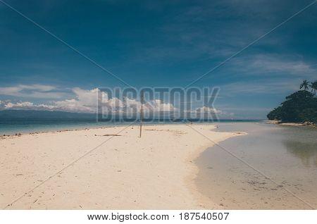 Beautiful Sand Bar By The Beach In Bantayan Island