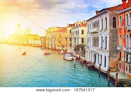 Picturesque Grand Canal In Venice