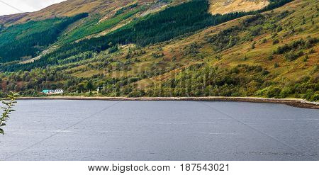Loch Leven Near Glencoe, In The Highlands Of Scotland