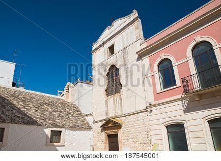 Church of St. Chiara. Noci. Puglia. Italy.